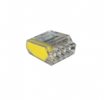 4-Port Yellow Push-In Wire Connectors