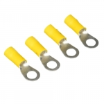 4 AWG 0.38-in Stud Size Ring Terminal, Yellow