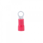22-18 AWG 4-6 Stud Ring Terminal, Red