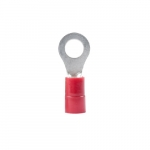 22-18 AWG 8-10 Stud Ring Terminal, Red