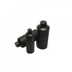 4-in Heat Shrink Tube End Cap, 1.30-.430, 4/0-500 MCM, Black