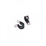 Steel Cable Clamps, Rubber, 1/4-in Diameter, 1/4-in Stud
