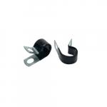 Steel Cable Clamps, Vinyl, 3/8-in Diameter, 1/4-in Stud