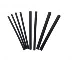 Assorted Size Black Polyolefin Heat Shrink Tubing