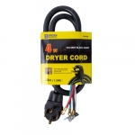 4 FT 30 Amp SRDT Black Dryer Cord