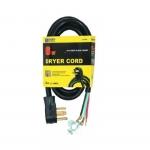 6 FT 30 Amp SRDT Black Dryer Cord