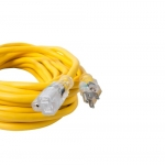 25 ft Yellow 12/3 SJTW Lighted Extension Cord
