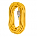 50 ft Yellow 12/3 SJTW Lighted End Extension Cord