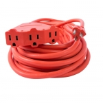 50 ft Orange 14/3 SJTW Triple Tap Extension Cord