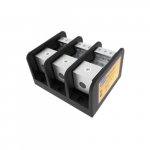 Power Distribution Block, 3 Pole, 2/0-12 & 4-14 AWG