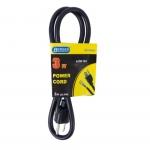 3 ft Black Straight Plug 16/3 Power Supply Cord
