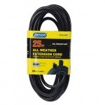 15 Amp 25-ft Extension Cord w/ Single Outlet, #14/3 AWG, 125V, Black