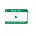Going Green Wall Placard for XLERATOR & XLERATOR ECO