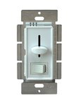 White Three-Way Incandescent Slide Dimmer Control  w/ Switch