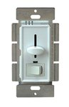 Almond Three-Way Back Light Incandescent Slide Dimmer Control w/ Switch