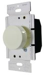 White Single Pole Lighted Incandescent Full Range Rotary Dimmer Control