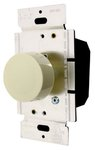 Ivory Three-Way Lighted Incandescent Full Rotary Dimmer w/ Push On/Off