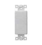 Light Almond 1-Gang Blank Plated High-Impact Decorative Adapter