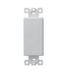 White 1-Gang Blank Plated High-Impact Decorative Adapter