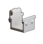 Almond Plastic Blank Insert Snap-in Audio/Video Connector