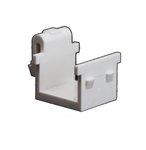 Light Almond Plastic Blank Insert Audio/Video Connector