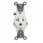 Ivory Commercial 2-Pole Tamper Resistant 20A Single Standard Receptacles