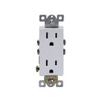 Ivory Push-In and Side Wired Decorator Residential Grade 15A Receptacle