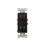 15 Amp Tamper Resistant Duplex Receptacle, Dark Bronze