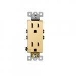 15 Amp Tamper Resistant Duplex Receptacle, Gold