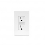 15 Amp Tamper Resistant Duplex Receptacle w/ Guide Light, White