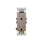 15 Amp Tamper Resistant Duplex Receptacle, Nickel