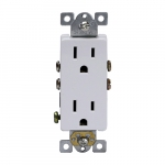 15 Amp Push-In/Side-Wired Decora Duplex Receptacle, White