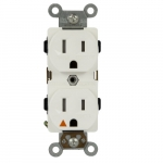 Ivory Isolated Ground Industrial Grade Tamper Resistant Duplex Receptacles