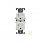 15 Amp Duplex Receptacle, Commercial Grade, Ivory