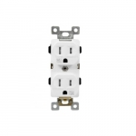 15 Amp Tamper and Weather Resistant Duplex Receptacle, White