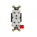 Red Hospital Industrial Straight Blade 20A High Voltage Duplex Receptacle