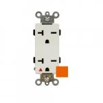 20 Amp Isolated Ground Duplex Receptacle, Industrial Grade, 250V, Orange