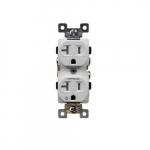 20 Amp Tamper Resistant Half Controlled Duplex Receptacle, White