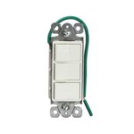 White Decorator Push-In 15A Triple Rocker Switch