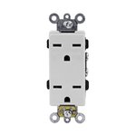 Ivory Industrial Grade Decorator 15A High Voltage Duplex Receptacle