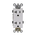 Ivory Industrial Grade Tamper Resistant 20A Duplex Receptacle