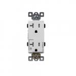 20 Amp Tamper Resistant Half Controlled Decorator Duplex Receptacle, White