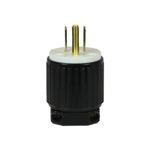 Black Industrial Grade Straight Blade 15A Plug GFCI
