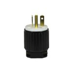 Black Industrial Grade Straight Blade 20A Plug GFCI