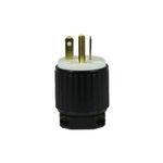 Black Industrial Grade Straight Blade 20A High Voltage Plug