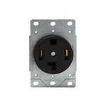 White Industrial Grade Power Devices Flush-Mount Receptacle