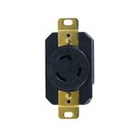 Black Industrial Grade 20A Locking GFCI Receptacle
