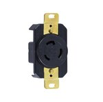 Black Industrial Grade 20A Locking High Voltage Receptacle
