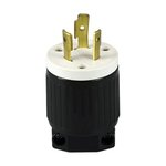 Black Industrial Grade 20A Locking High Voltage Plug
