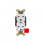 Red 15A Straight Blade Duplex Hospital Receptacle